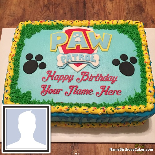 Surprising Free Paw Patrol Birthday Cake For Kids Funny Birthday Cards Online Inifodamsfinfo