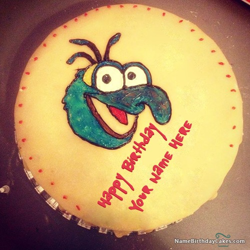 Write Name On Funny Birthday Cake For Friends