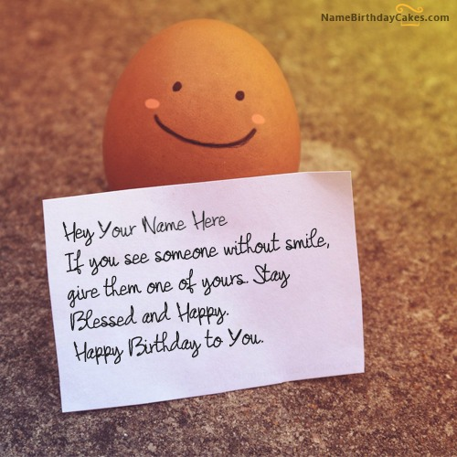 Write Name On Funny Birthday Wish For Everyone