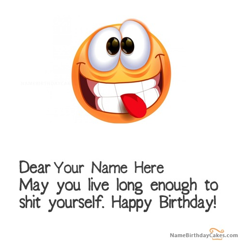 Funny Birthday Wishes For Friend With Name