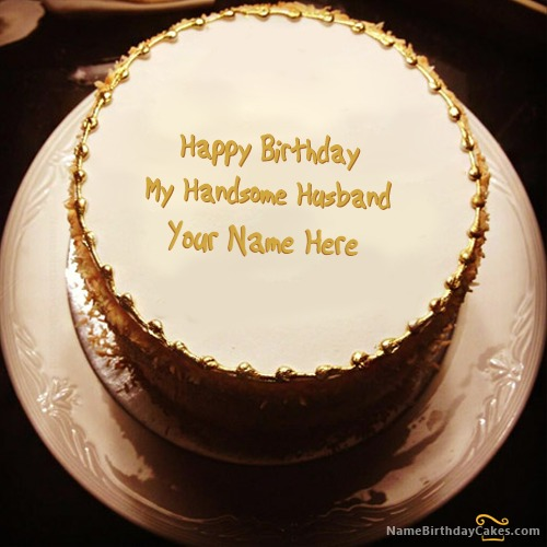 Golden Birthday Cake For Husband