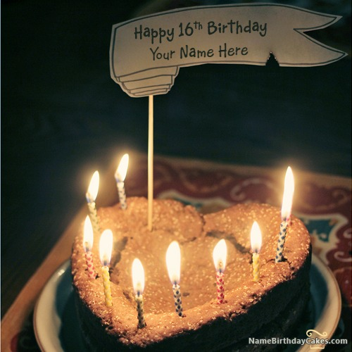 Write Name On Happy 16th Birthday Cake