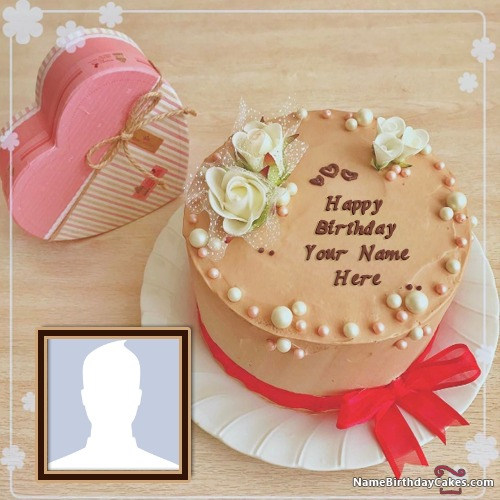 Happy Birthday Cake For Brother With Name And Photo