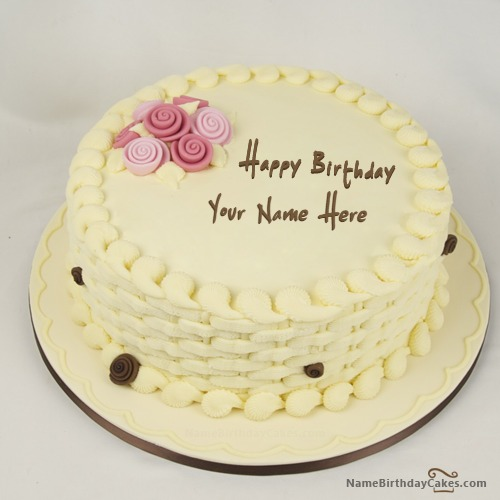 Happy Birthday Cake for Girls With Name