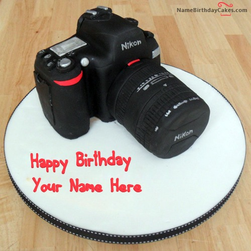 Write Name On Happy Birthday Cake For Photographer