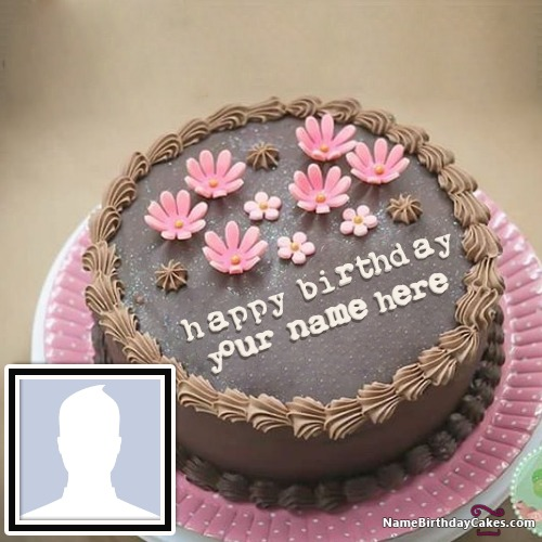 Peachy Happy Birthday Cake For Son With Name And Photo Funny Birthday Cards Online Overcheapnameinfo
