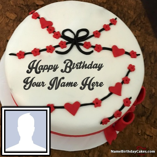 Astonishing Special Happy Birthday Cake With Photo And Name Funny Birthday Cards Online Fluifree Goldxyz