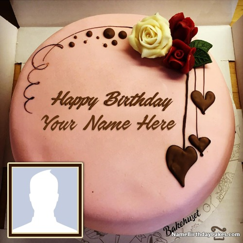 Pleasant Happy Birthday Chocolate Cake With Name Edit And Photo Funny Birthday Cards Online Overcheapnameinfo