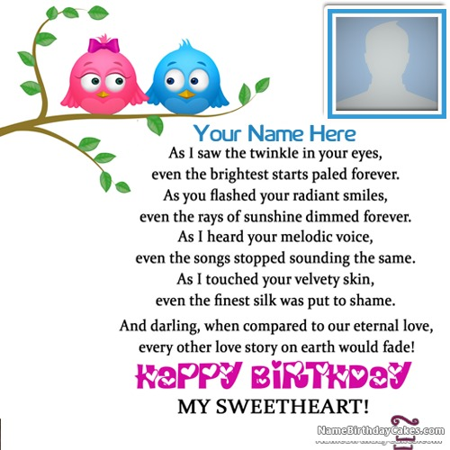 Romantic Happy Birthday Image With Name And Photo