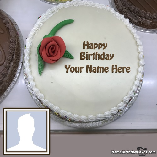 Happy Birthday Rose Cake For Friends With Name