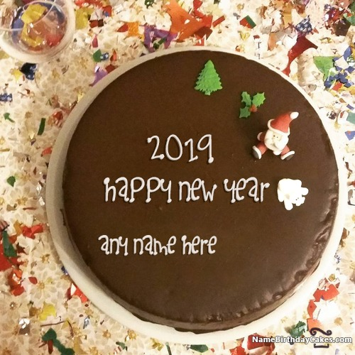Special Happy New Year Cake 2018 With Name