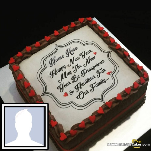 Best Happy New Year Wishes Cake With Name