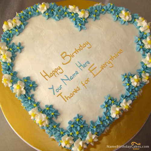 Birthday Cake Images For A Husband : Romantic Birthday Cakes for Husband With Name & Photo ...