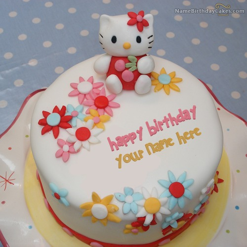 Hello Kitty Birthday Cake With Name