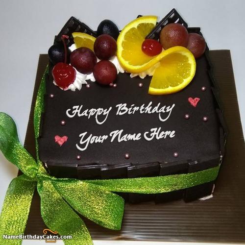 Homemade Chocolate Lemon Cake For Friends Birthday Wish