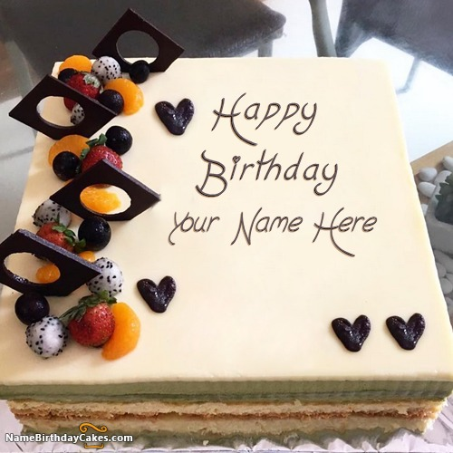 Write Name On Homemade Happy Birthday Cakes For Men