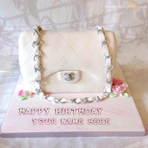 Write Name On Bag Girly Cake