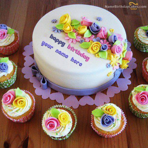 Beautiful Birthday Cake Writing