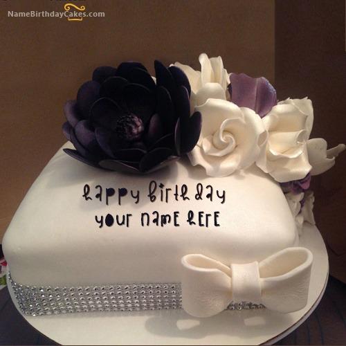 Beautiful Cake With Name & Photo