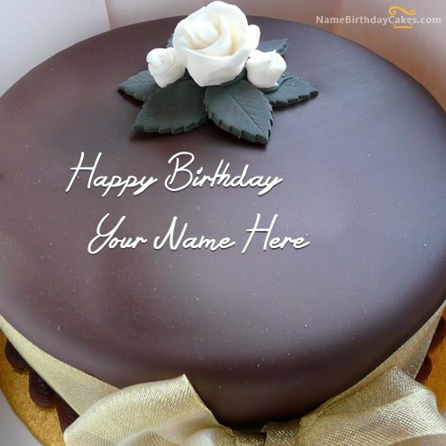 Beautiful Chocolate Cake With Name