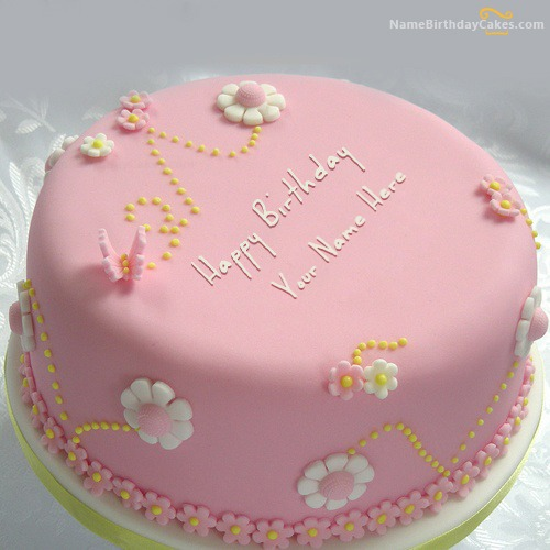 Beautiful Happy Birthday Cake With Name & Photo