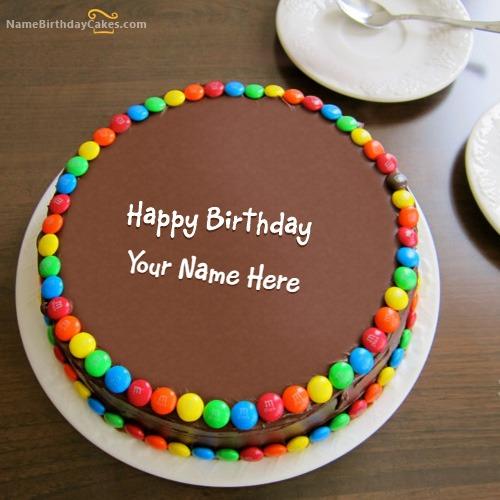 Birthday Chocolate Bunties Cake With Name