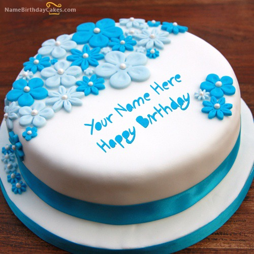 Write Name On Birthday Ice Cream Cake