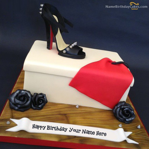 Cake for Girls Fashion With Name & Photo