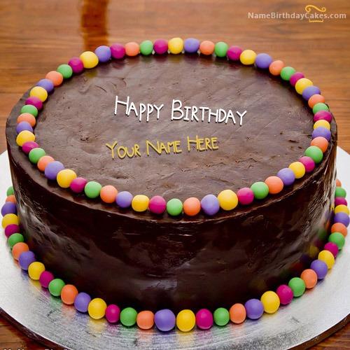 Chocolate Balls Bithday Cake