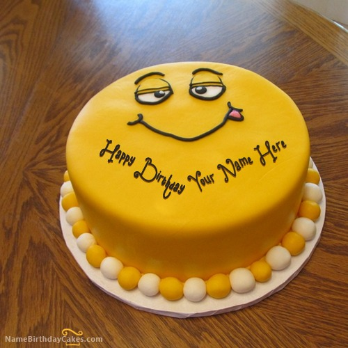 Funny Cake for Kids With Name & Photo