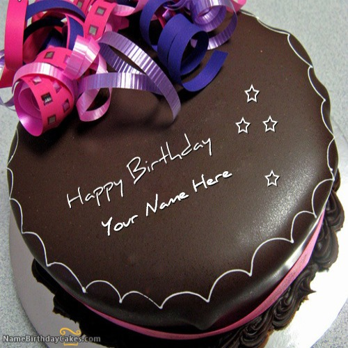 Happy Birthday Chocolate Cake With Name