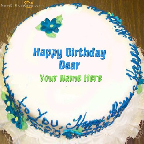 Write Name On Happy Birthday Dear