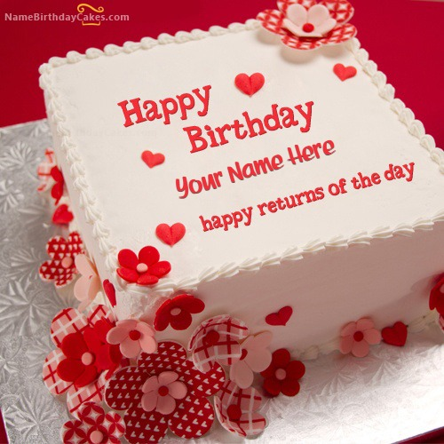 Write Name On Happy Returns Birthday Cake