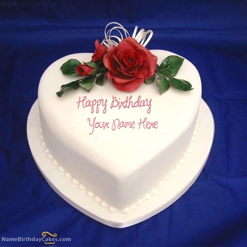 Heart Icecream Cake With Name & Photo