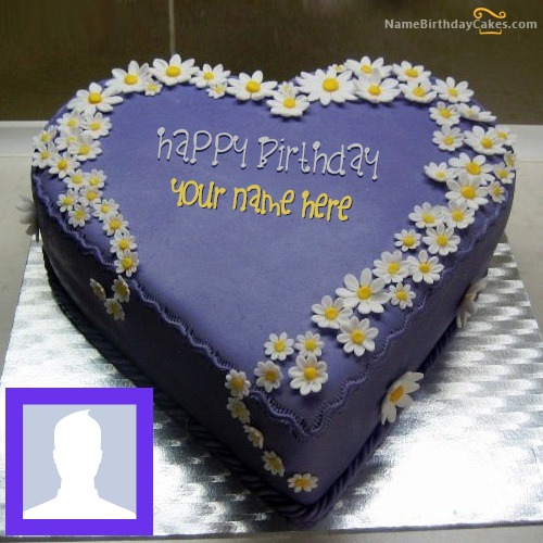 Write Name On Indigo Yummy Cake
