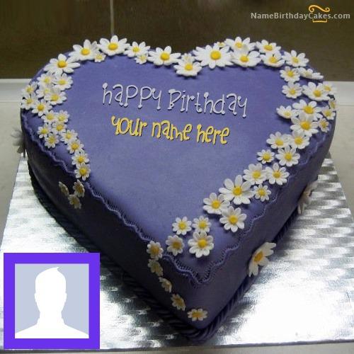 Indigo Yummy Cake With Name