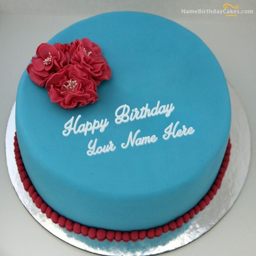 Write Name On Lovely Ice Cream Cake