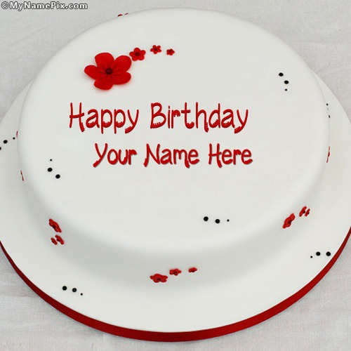 Write Name On Simple Birthday Cake