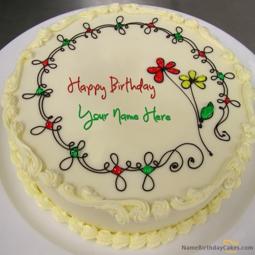 Write Name On Write Name on Birthday Cake