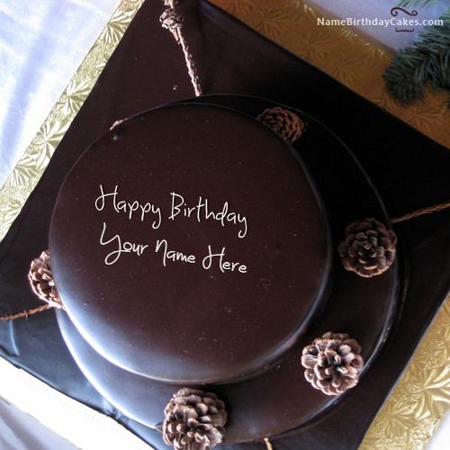 Layered Chocolate Birthday Cake For Friends