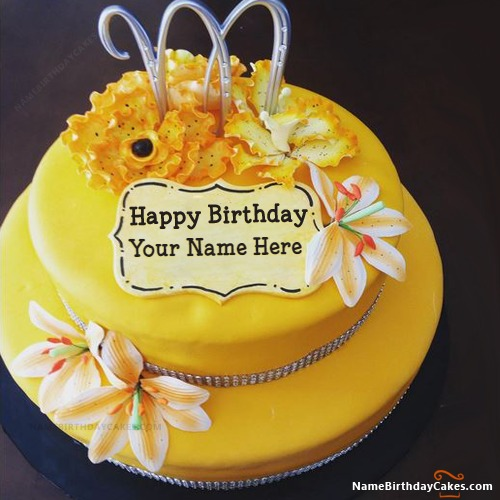 Write Name On Lemon Drizzle Cake For Birthday Wish
