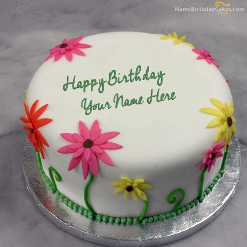 Write Name On Lovely Birthday Cake For Sister