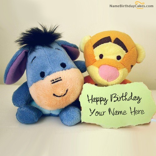 Lovely Cute Birthday Wish With Name & Photo