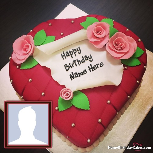 Happy birthday cake candle photo