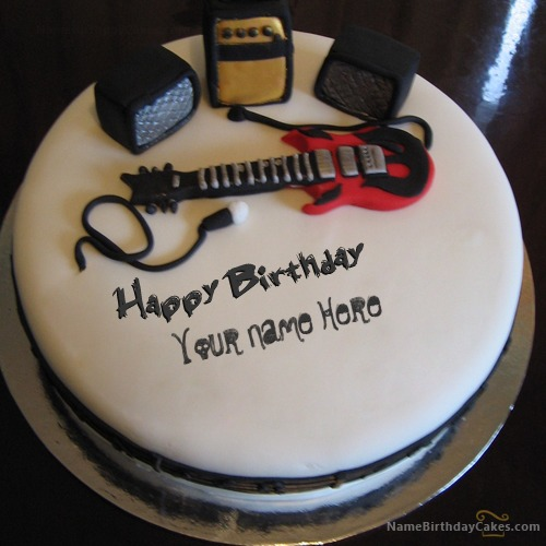 Music Birthday Cake For Boys With Name