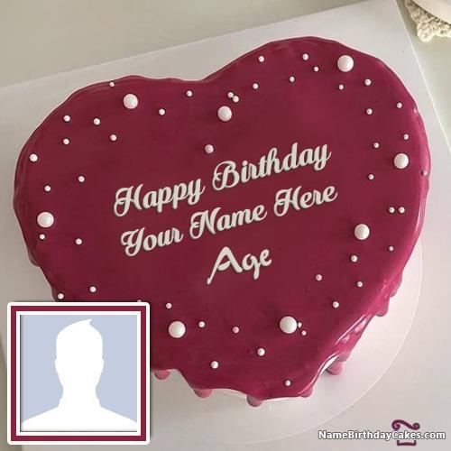 Name Birthday Cake Photo Frame