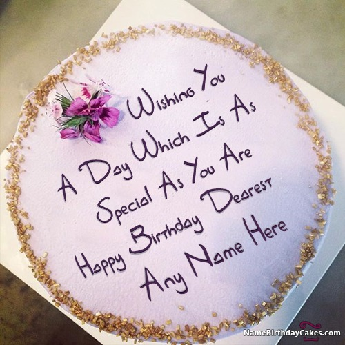 Name Birthday Cake Wishes Images