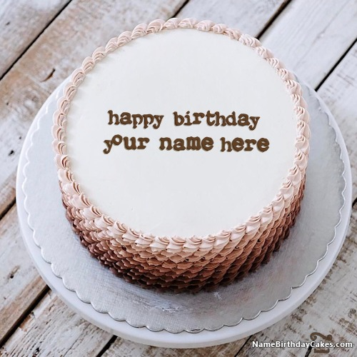 Name On Happy Birthday Cake For Boys