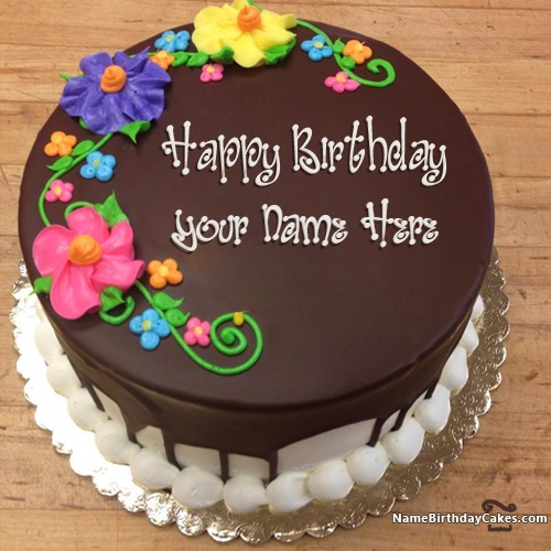 Images Of Chocolate Cake With Name : Chocolate Birthday Cakes With Name