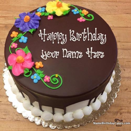 Tremendous New Arrival Happy Birthday Chocolate Cake With Name Personalised Birthday Cards Veneteletsinfo
